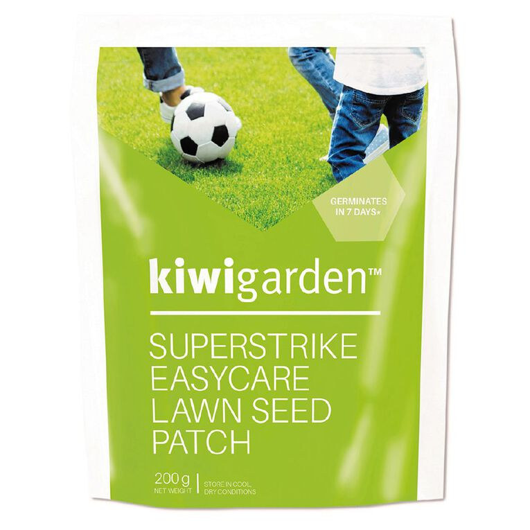 Kiwi Garden Superstrike Lawn Seed Patch 200g, , hi-res