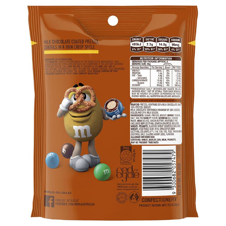 M&M's Pretzel Chocolate Bag 130g, , hi-res