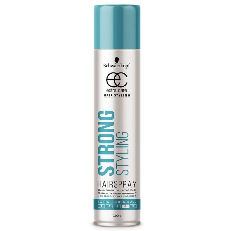 Schwarzkopf Extra Care Strong Hold Hairspray 100g, , hi-res