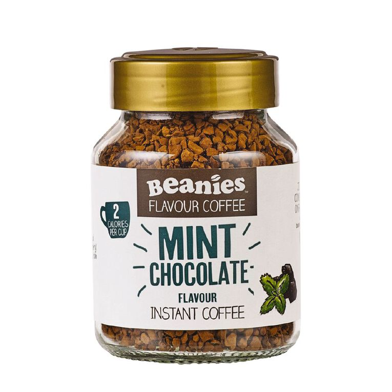 Beanies Mint Chocolate Flavour Instant Coffee 50g, , hi-res