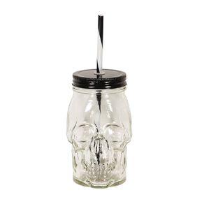 Scarehouse Skull Glass 500ml