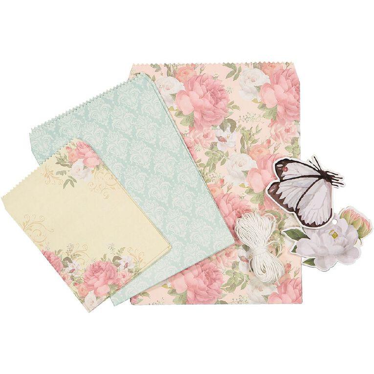 Uniti Gift Wrapping DIY Kit Vintage Floral, , hi-res
