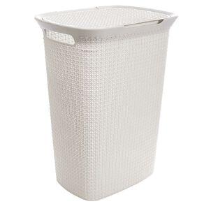 Living & Co Laundry Hamper White 57L