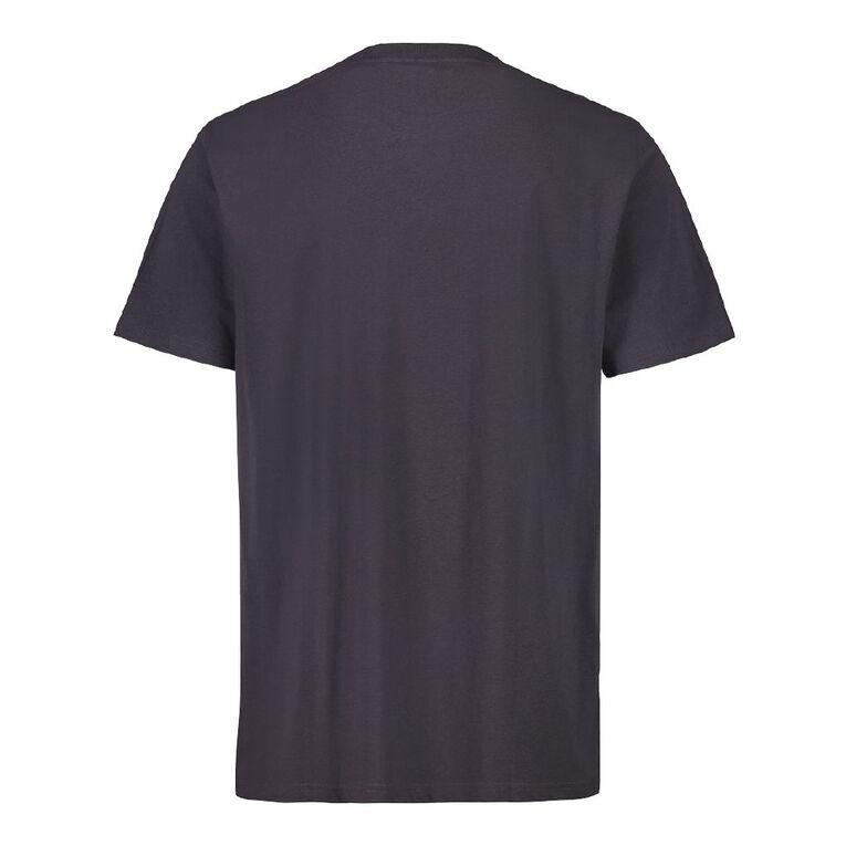 H&H Men's Short Sleeve Slogan Tshirt, Grey Dark, hi-res