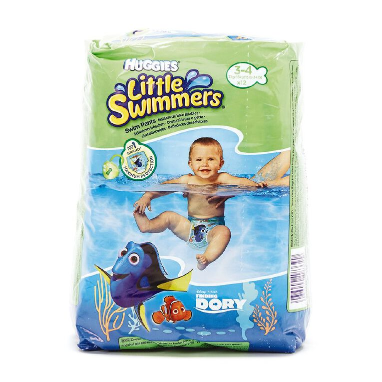 Huggies Swimmers 3-4 Branded Import Spec may differ to Local Huggies, , hi-res