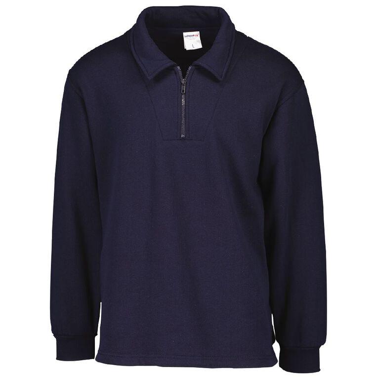 Schooltex Kids' Zip Fleece Tunic, Navy, hi-res