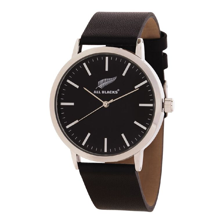 All Blacks Classic Analogue Watch Leather Black, , hi-res