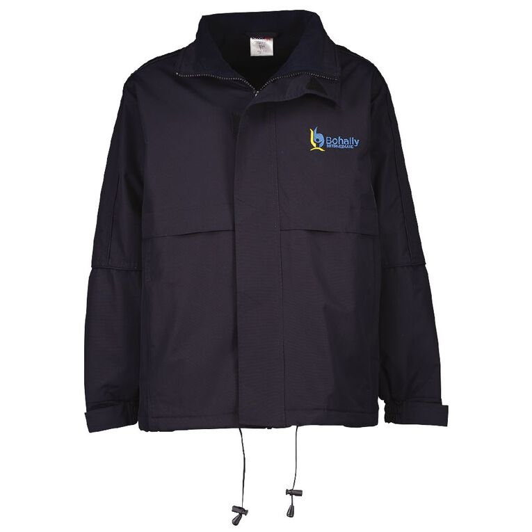 Schooltex Bohally Intermediate Anorak with Embroidery & Transfer, Navy, hi-res