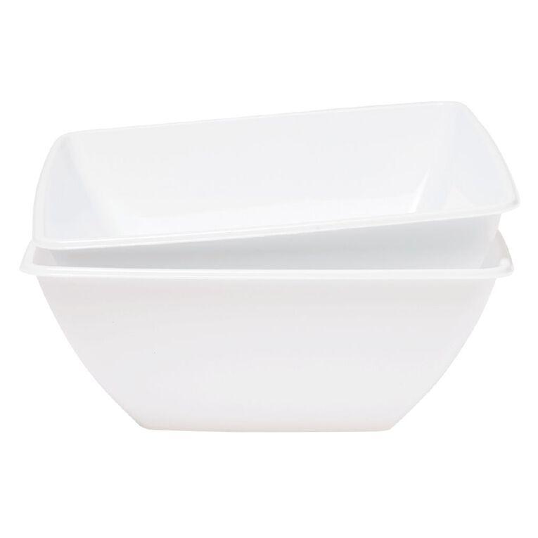 SURV. Bowl Square Deep 2 Pack White 28cm, , hi-res