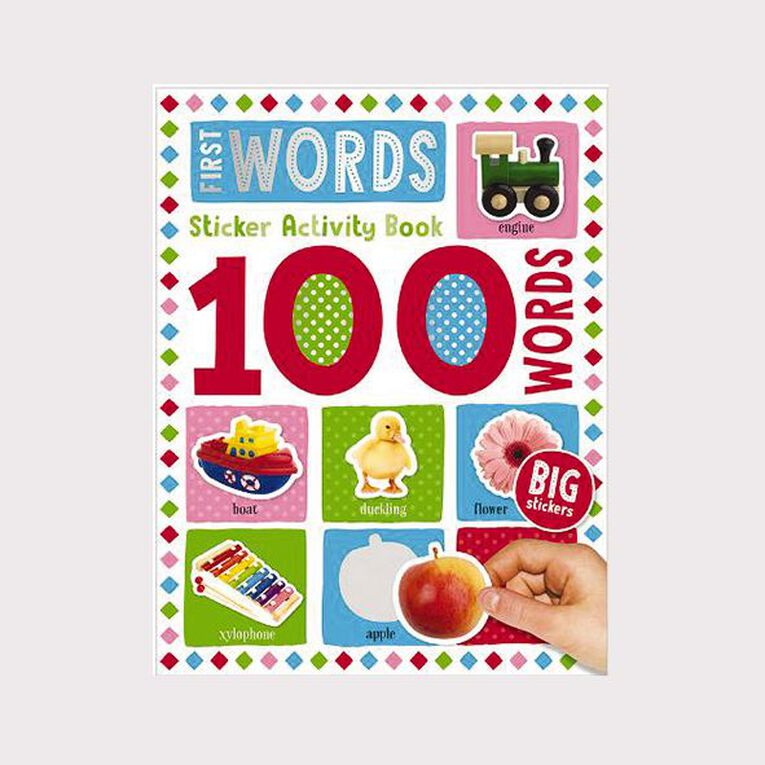 100 Word First Sticker Book, , hi-res image number null