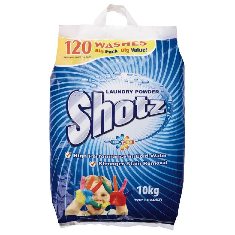 Shotz Laundry Powder Bag 10kg, , hi-res