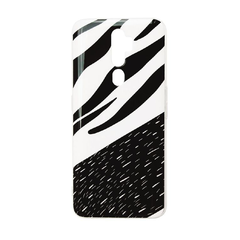 Oppo A5 (2020) Phone Case Black/White, , hi-res