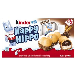 Kinder Happy Hippo Cocoa 5 Pack