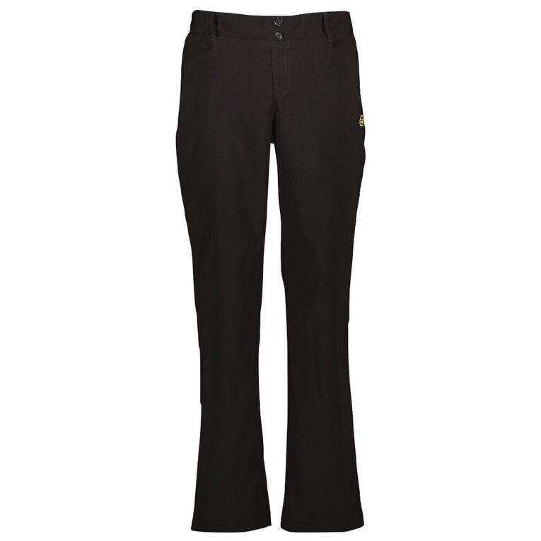 Schooltex Bream Bay College Girls Trousers with Embroidery, Black, hi-res
