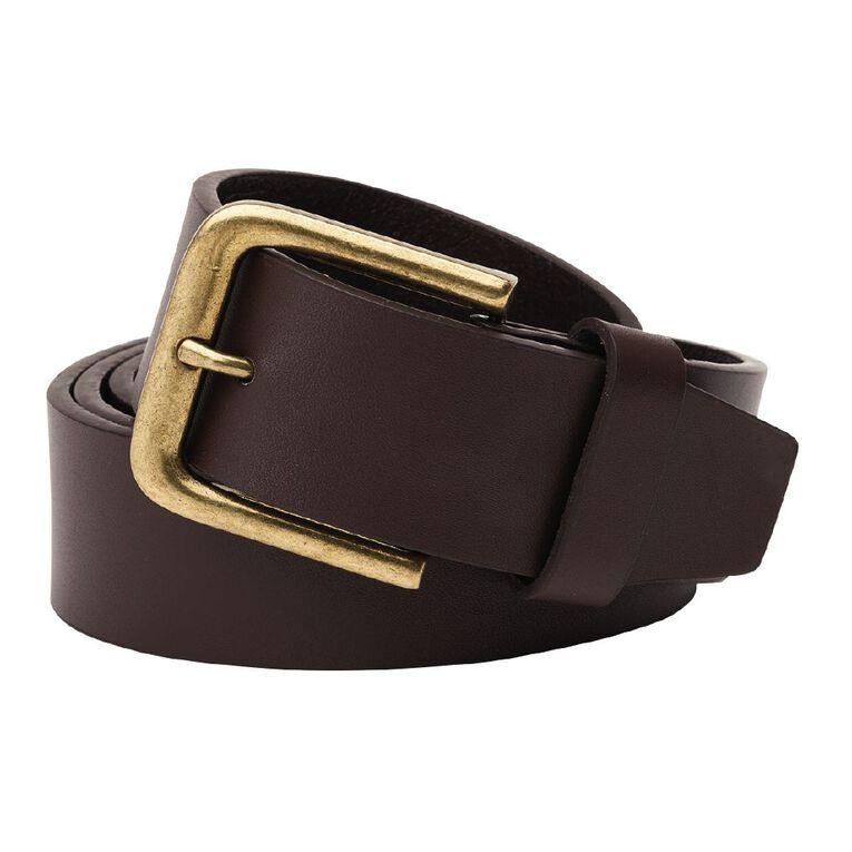 H&H Men's Jeans Belt, Brown, hi-res