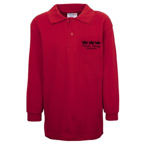Schooltex Three Kings Long Sleeve Polo with Embroidery