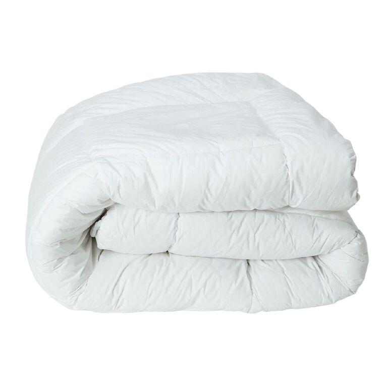 Living & Co Mattress Topper Ball Fibre White Single, White, hi-res