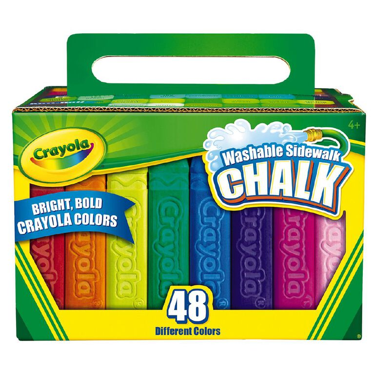 Crayola Washable Sidewalk Chalk 48 Piece Multi-Coloured, , hi-res