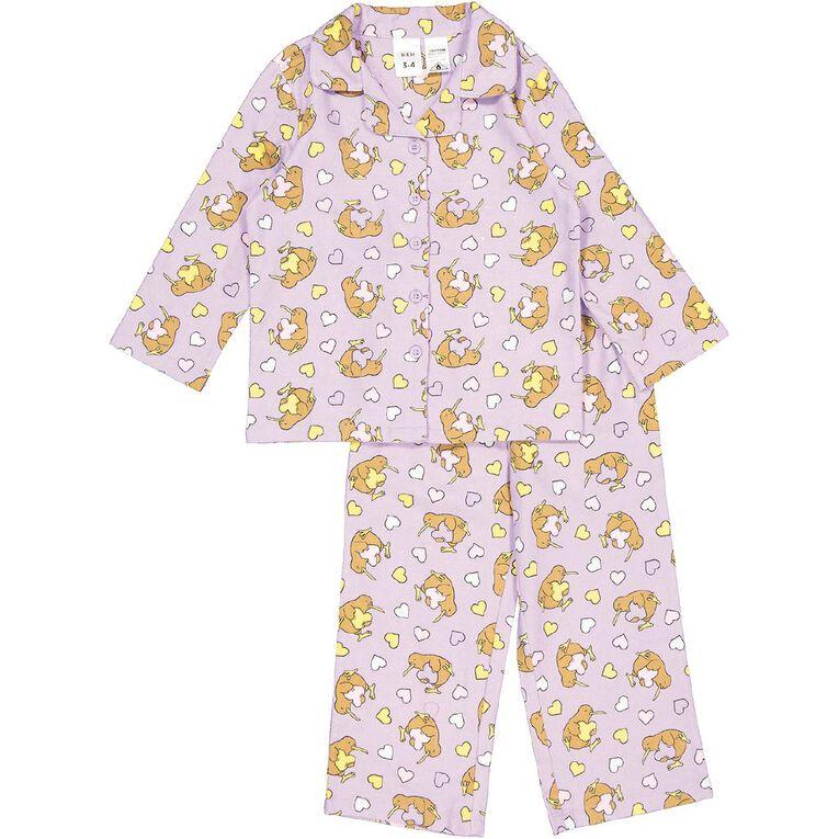 H&H Kids' Flannelette Pyjamas, Purple Light, hi-res