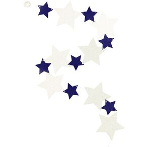 Party Inc Star Garland 3m Multi-Coloured