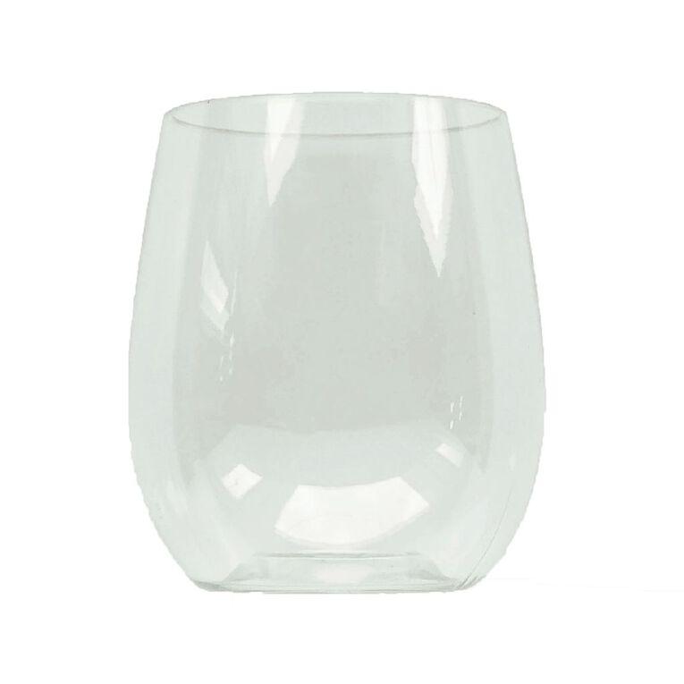 SURV. Plastic Stemless Wine Glass 350mls 6 Pack, , hi-res