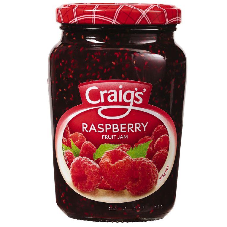 Craig's Raspberry Jam 375g, , hi-res