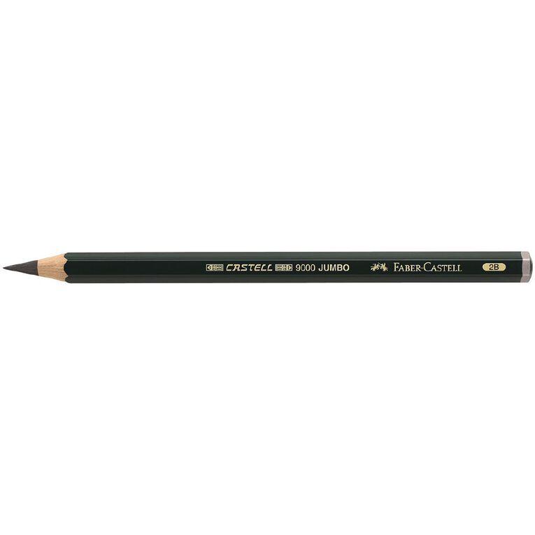 Faber-Castell Drawing Pencil 9000 Jumbo 2B Black, , hi-res