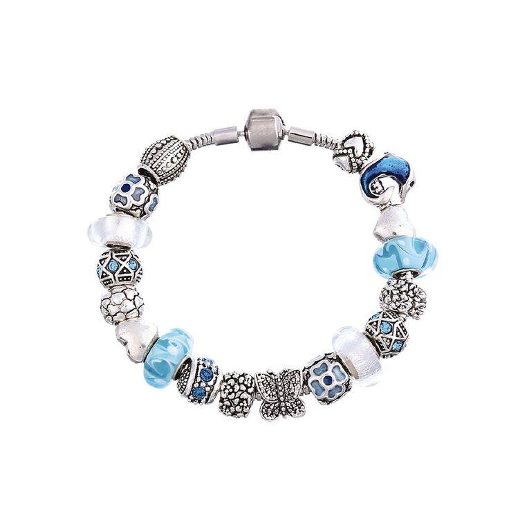 Mestige Silver Plated Calmness Bracelet with Swarovski Crystals, , hi-res