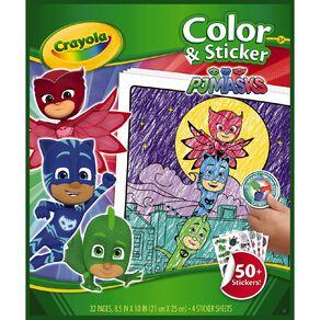 Crayola Colour & Sticker Book PJ Masks