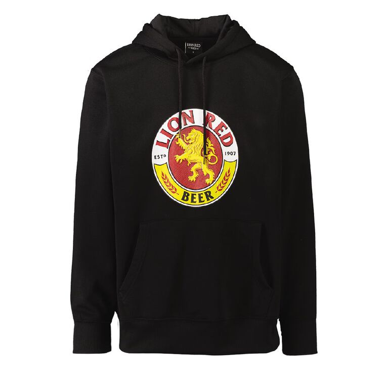 Lion Red Men's Printed Hooded Sweatshirt, Black, hi-res