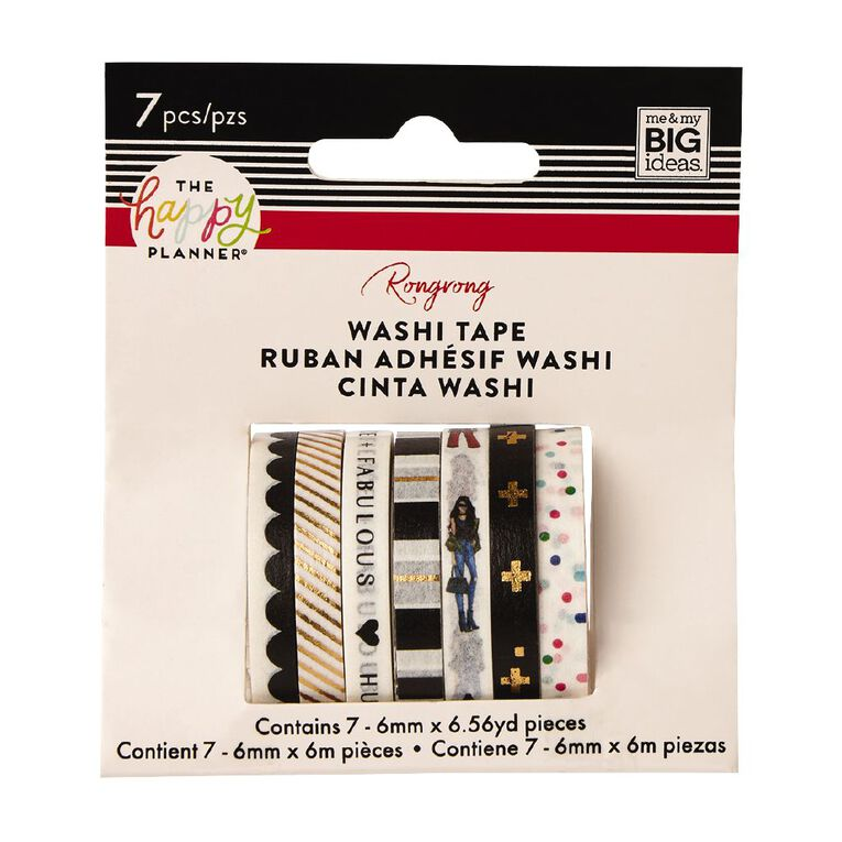 Me & My Big Ideas Washi Tape 6mm x 6m Fabulous 7 Pack, , hi-res
