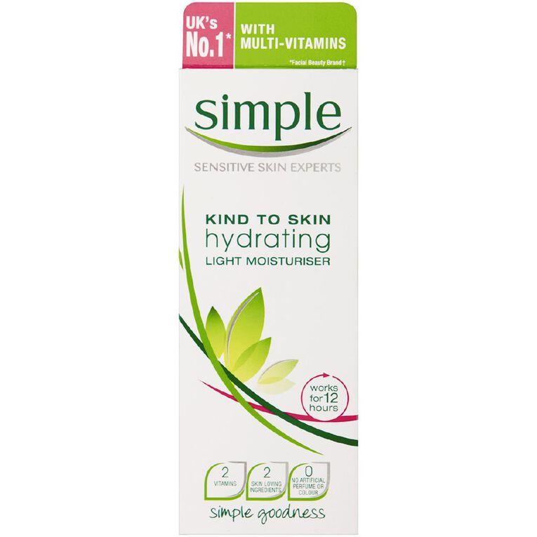 Simple Hydrating Light Moisturiser 125ml, , hi-res