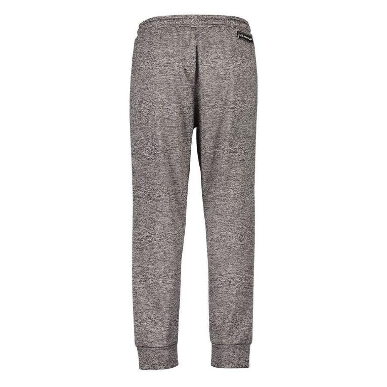 Active Intent Men's Supporter Printed Side Panel Pants, Grey Marle, hi-res