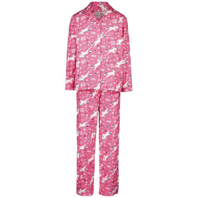 H&H Kids' Flannelette Pyjamas, Pink, hi-res