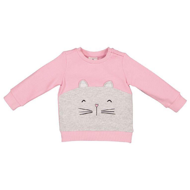 Young Original Baby Novelty Sweatshirt, Pink Light, hi-res
