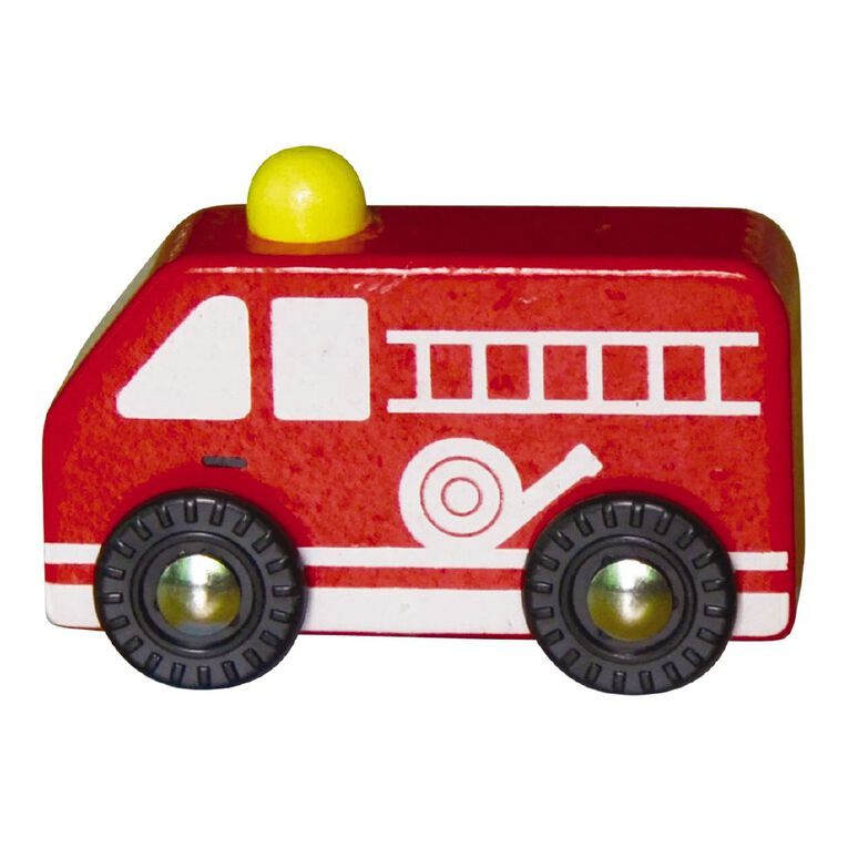 Play Studio Mini Wooden Vehicle Fire Engine, , hi-res