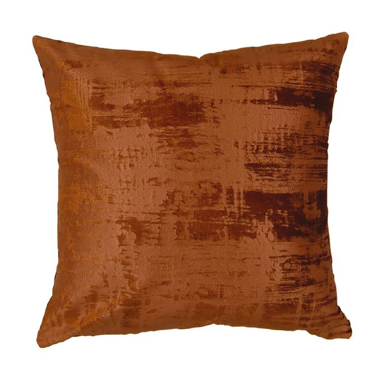 Living & Co Metro Matte Printed Cushion Rooibos Red 45cm x 45cm, Red, hi-res