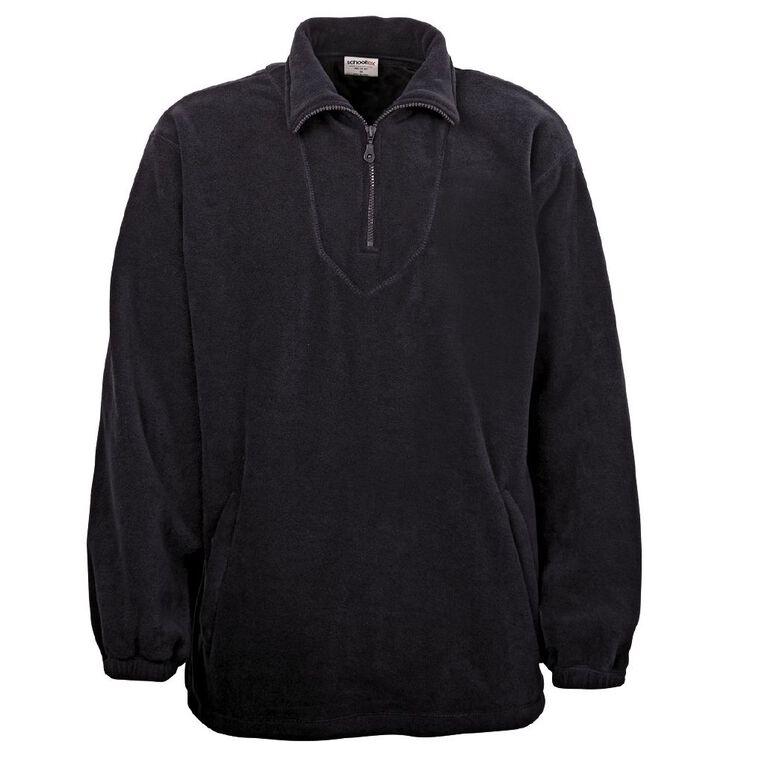 Schooltex Adults' Polar Fleece Top, Black, hi-res