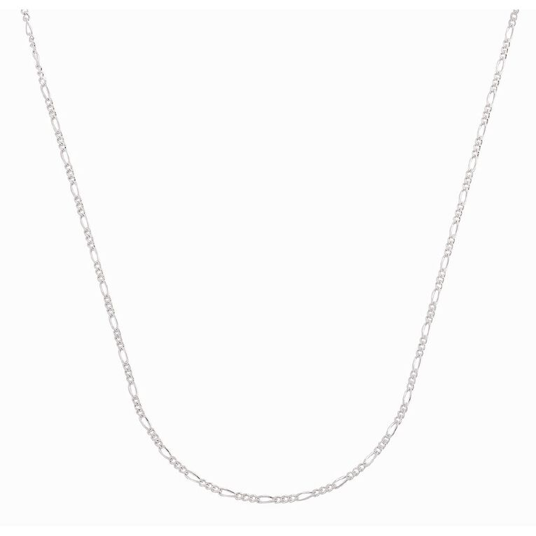 Sterling Silver 50 Gauge Figaro Chain 55cm, , hi-res