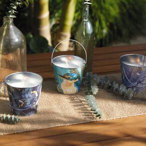 Living & Co Citronella Bucket Candle Kiko Bay Navy 13cm x 12cm