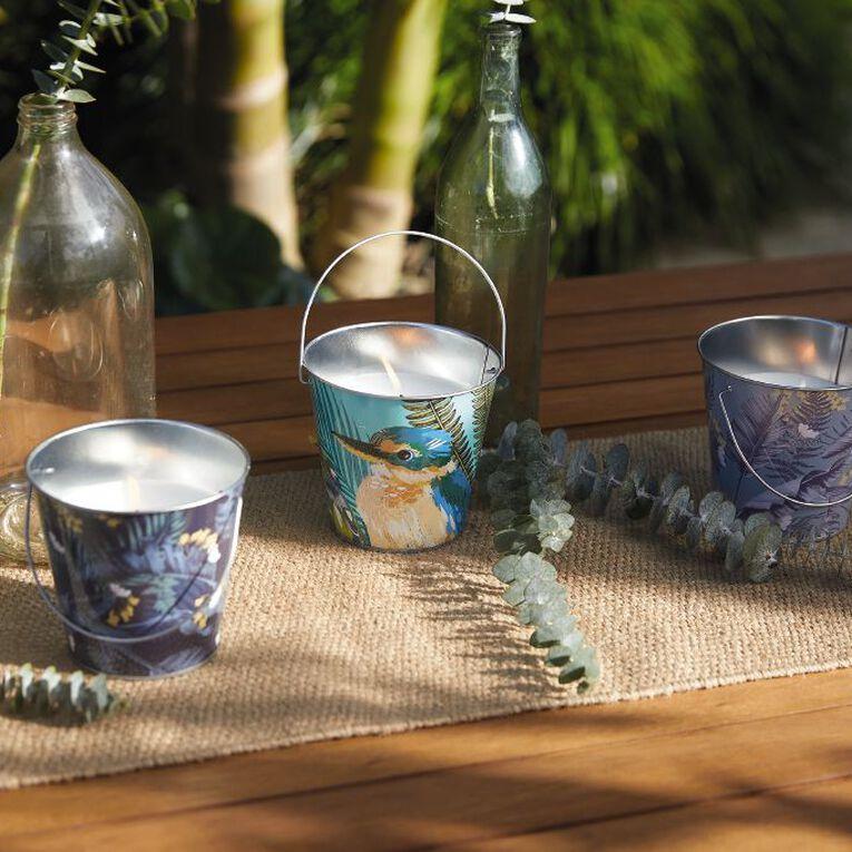 Living & Co Citronella Bucket Candle Kiko Bay Navy 13cm x 12cm, , hi-res