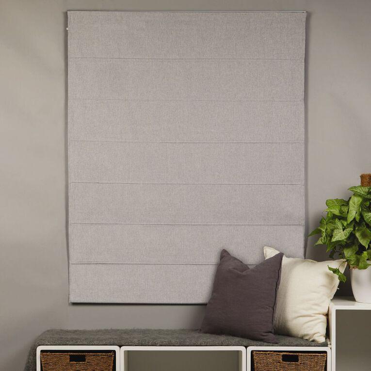 Homeworks Iconic Roman Blind Grey 180cm x 150cm, Grey, hi-res