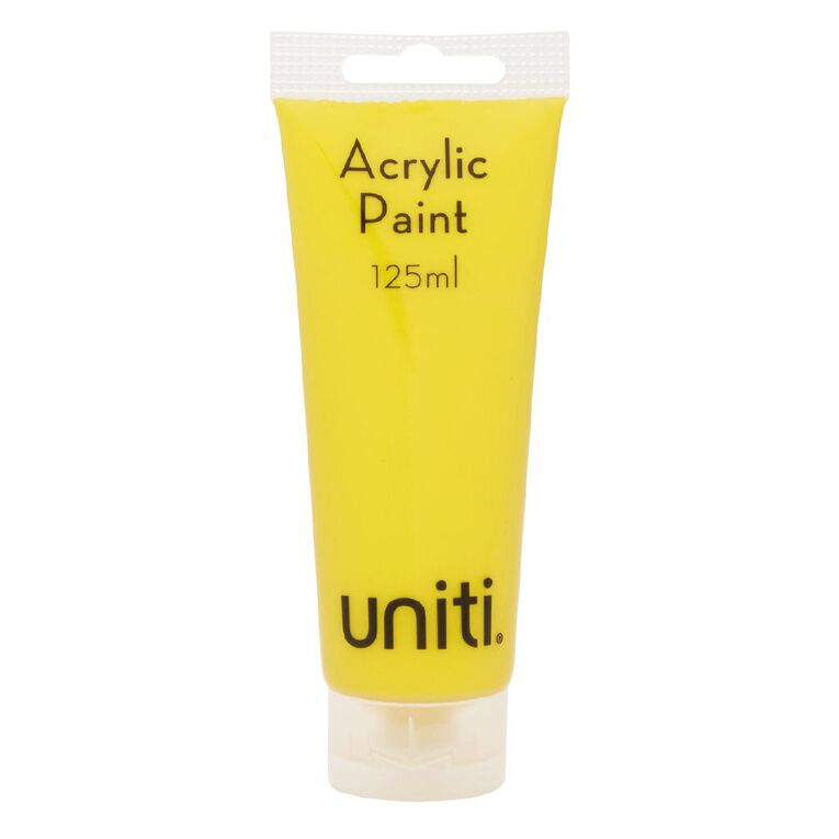 Uniti Acrylic Tube Yellow 125ml, , hi-res