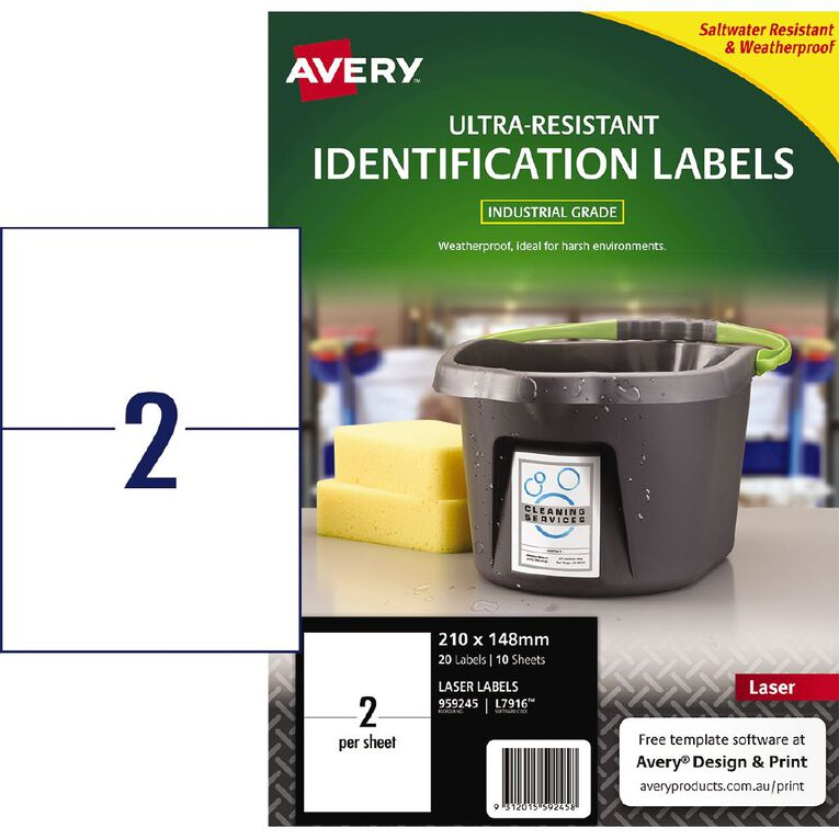 Avery Ultra-Resistant Outdoor Labels White 20 Labels, , hi-res