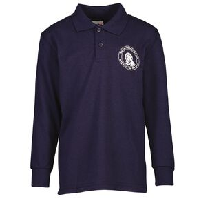 Schooltex Marian Catholic School New Long Sleeve Polo with Embroidery