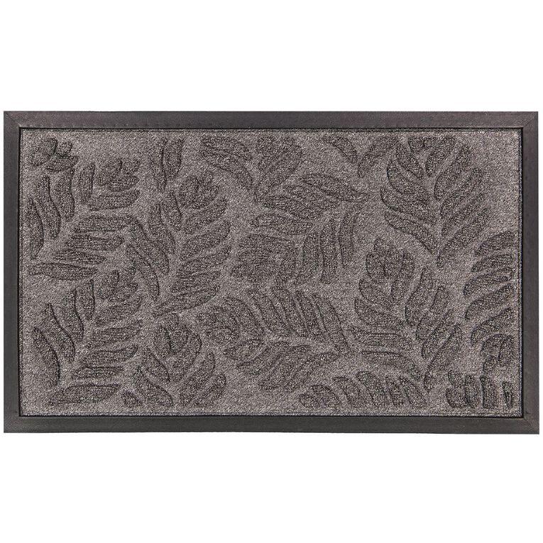 Living & Co Textured Door Mat Grey 45cm x 75cm, Grey, hi-res