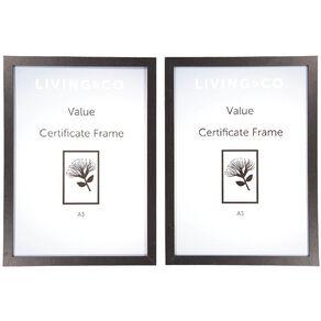 Living & Co Value Certificate Frame 2 pack