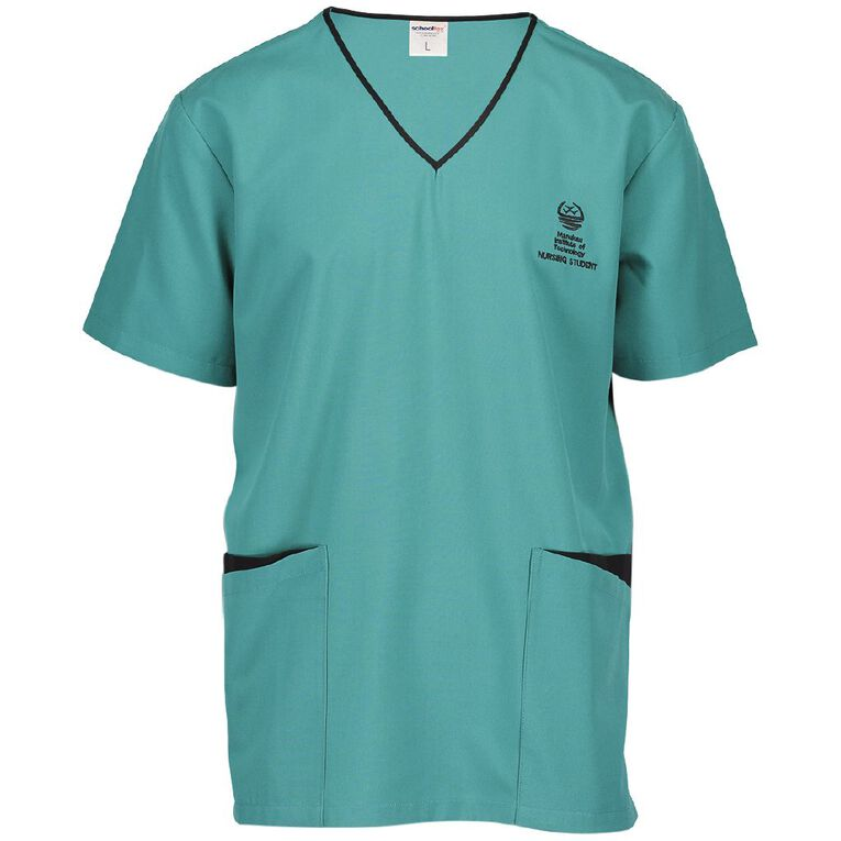 Schooltex Manukau Institute of Technology Unisex Smock with Embroidery, Jade, hi-res