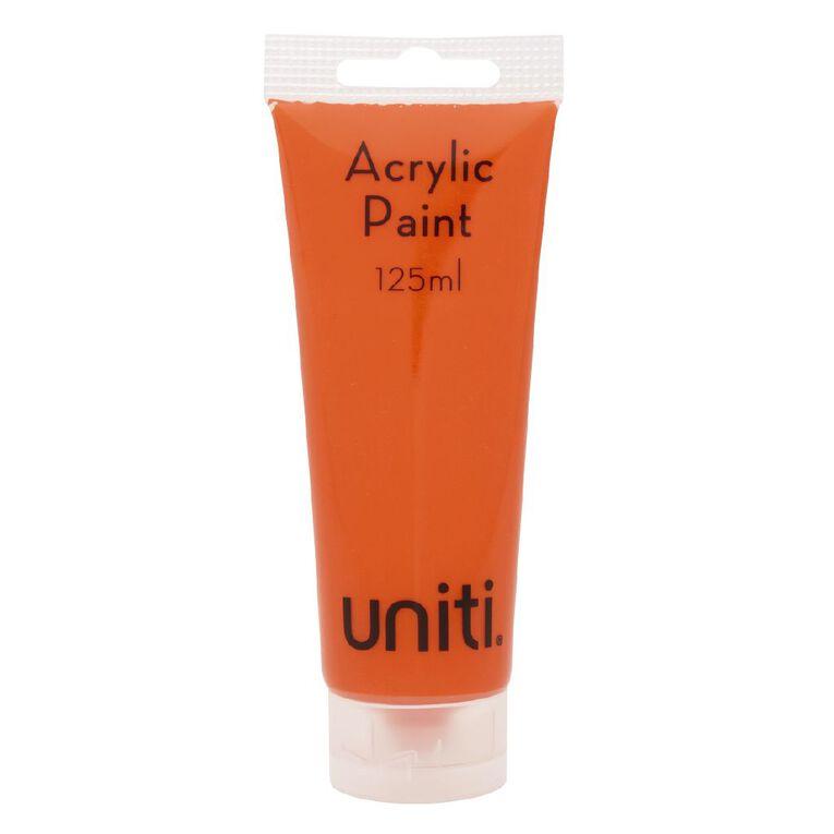 Uniti Acrylic Tube Orange 125ml, , hi-res