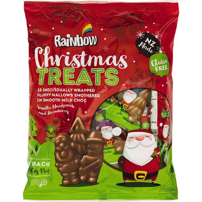 Rainbow Choc Mallow Christmas Treats 15 Pack 300g, , hi-res